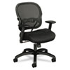 VL712 Mid-Back Swivel/Tilt Work Chair, Black Mesh