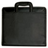 Zip-Around Portfolio, File Pockets, 3-Ring Binder, Writing Pad, Organizer, Black