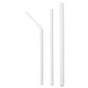 "Jumbo Straws, 7 5/8"", Plastic, White Flex, 400/Box"