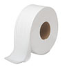 JRT Bath Tissue, Jumbo, Two-Ply, White, 1000 Feet/Roll, 12 Rolls/Carton