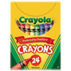 Crayola Classic Color Pack Crayons, Tuck Box, 24/Box
