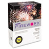 FIREWORX Colored Paper, 24lb, 8-1/2 x 11, Banana Blast, 500 Sheets/Ream