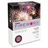 FIREWORX Colored Paper, 24lb, 8-1/2 x 11, Firecracker Fuchsia, 500 Sheets/Ream