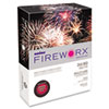 FIREWORX Colored Paper, 24lb, 8-1/2 x 11, Roman Candle Red, 500 Sheets/Ream