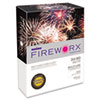 FIREWORX Colored Paper, 24lb, 8-1/2 x 11, Combustible Orange, 500 Sheets/Ream