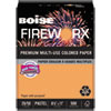 Boise FIREWORX Colored Paper, 20lb, 8-1/2 x 11, Pumpkin Glow, 500 Sheets/Ream