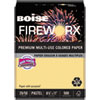 Boise FIREWORX Colored Paper, 20lb, 8-1/2 x 11, Boomin' Buff, 500 Sheets/Ream
