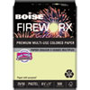 Boise FIREWORX Colored Paper, 20lb, 8-1/2 x 11, Garden Springs Green, 500 Sheets/Ream