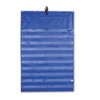 Original Pocket Chart with 10 Clear Pockets, Grommets, Blue, 33 3/4 x 51 1/2