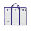 Bulletin Board Storage Bag, Blue;Clear, 30&quot; x 24