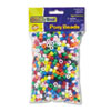 Pony Beads, Plastic, 6mm x 9mm, Assorted Colors, 1000/Pack