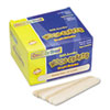 Natural Wood Craft Sticks, Jumbo Size, 6 x 3/4, Wood, Natural Wood, 500/Box