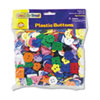 Chenille Kraft 6120 Plastic Button Assortment, 1 lbs., Assorted Colors/Sizes CKC6120 CKC 6120