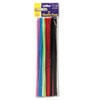 "Regular Stems, 12"" x 4mm, Metal Wire, Polyester, Assorted, 100/Pack"