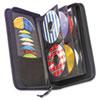 Case Logic CD/DVD Wallet, Holds 72 Disks, Black