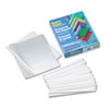 Polypropylene Report Covers w/Binding Bars, Economy, Clear, 11 x 8 1/2, 50/BX