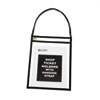 Shop Ticket Holder with Strap, Black, Stitched, Both Sides Clear, 9 x 12, 15/BX