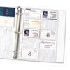 C-Line Business Card Binder Pages, Holds 20 Cards, 8 1/8 x 11 1/4, Clear, 10/Pack
