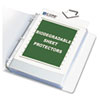 Biodegradable Sheet Protectors, Clear, Polypropylene, 11 x 8 1/2, 50/BX