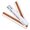 Label Holders, Top Load, 6 x 1, Clear, 50/Pack
