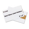 Label Holders, Top Load, 5 x 3, Clear, 50/Pack