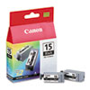 Canon BCI15BK (BCI-15) Ink Tank, 130 Page-Yield, 2/Pack, Black