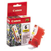 Canon BCI6Y (BCI-6) Ink Tank, 370 Page-Yield, Yellow