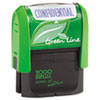 2000 PLUS Green Line Message Stamp, Confidential, 1 1/2 x 9/16, Blue
