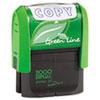 2000 PLUS Green Line Message Stamp, Copy, 1 1/2 x 9/16, Blue