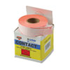 Two-Line Pricemarker Labels, 5/8 x 13/16, Fluor. Red, 1000/Roll, 3 Rolls/Box