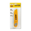 COSCO 091467 Plastic Utility Knife w/Retractable Blade & Snap Closure, Yellow COS091467 COS 091467