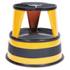 "Kik-Step Two-Step Steel Step Stool, 14"" high, 500lb Duty Rating, Orange"