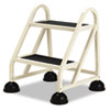 Cramer Stop-Step Two-Step Aluminum Ladder, 21-1/4w x 20-1/4d x 22-7/8h, Beige