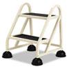 Cramer Stop-Step 2-Step Aluminum Ladder, 21 1/2w x 20 1/4d x 23h, Beige