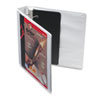 Cardinal Recycled ClearVue EasyOpen D-Ring Presentation Binder, 1-1/2