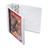 "Cardinal Easy-Open ClearVue Extra-Wide Locking Slant-D Binder, 3"" Cap, 11 x 8 1/2, White"