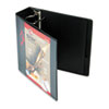 "Cardinal Easy-Open ClearVue Extra-Wide Locking Slant-D Binder, 3"" Cap, 11 x 8 1/2, Black"