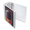 "SuperStrength ClearVue Locking Slant-D Ring Binder, 5"", White"