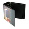 "SuperStrength ClearVue Locking Slant-D Ring Binder, 5"", Black"