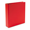 "Heavyweight Vinyl Slant-D Ring Binder, 2"" Capacity, Red"