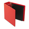Heavyweight Vinyl Slant-D Ring Binder, 4&quot; Capacity, Red
