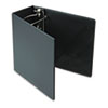 "Heavyweight Vinyl Slant-D Ring Binder With Finger Hole, 5"" Capacity, Black"