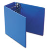 "Heavyweight Vinyl Slant-D Ring Binder With Finger Hole, 5"" Capacity, Blue"