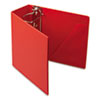 "Heavyweight Vinyl Slant-D Ring Binder With Finger Hole, 5"" Capacity, Red"