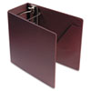 "Heavyweight Vinyl Slant-D Ring Binder With Finger Hole, 5"" Capacity, Maroon"