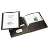 ReportPro 10-Pocket Project Organizer, Letter, Black
