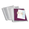 Cardinal Zippered Binder Pockets, 8-1/2 x 11, Clear, 3 Pockets/Pack