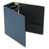 "EasyOpen Slant D-Ring Binder, Finger Slot, 5"" Cap, Navy"