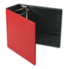 "EasyOpen Slant D-Ring Binder, Finger Slot, 5"" Capacity, Red"