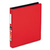 "EasyOpen Locking Round Ring Binder, 11 x 8-1/2, 1"" Capacity, Red"